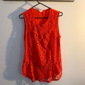 Cherry red blouse Tiny for Anthropologie